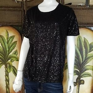 Bon Worth Sequin top
